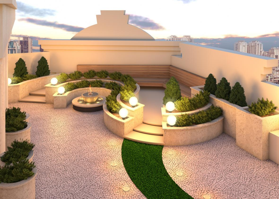 چطور روف گاردن یا فضای سبز در تراس یا پشت بام داشته باشیم