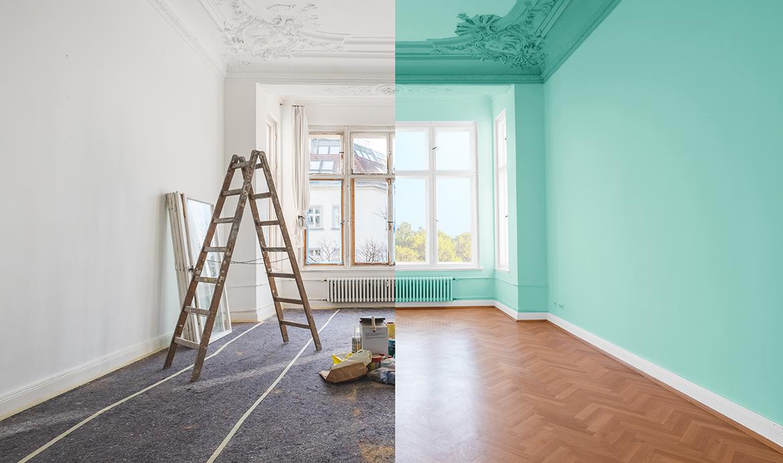 روش درست نقاشی در زمان بازسازی ساختمان
