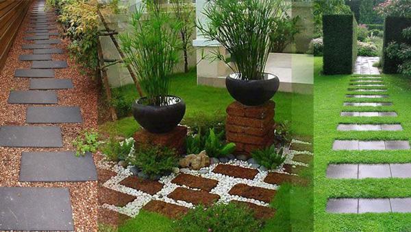 انتخاب مدل سنگ فرش حیاط و باغ